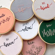 Load image into Gallery viewer, Embroidery Hoop Wall Hanging
