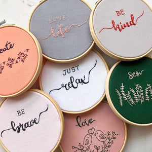 Embroidery Hoops for Gift Cards