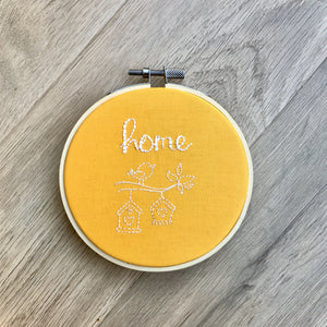 Home Embroidery Hoop Wall Hanging