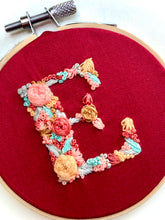 Load image into Gallery viewer, Letter E Embroidery Wall Hanging