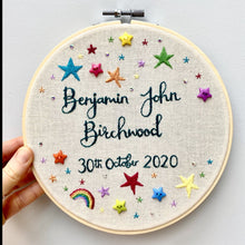 Load image into Gallery viewer, Personalised embroidery hoop