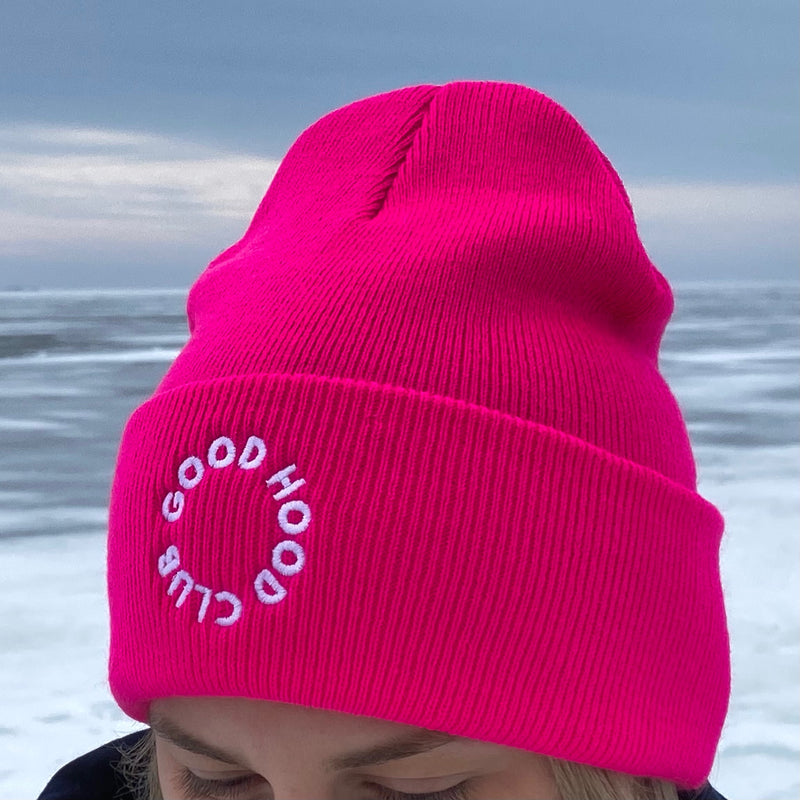 Thea Beanie in Hot Pink