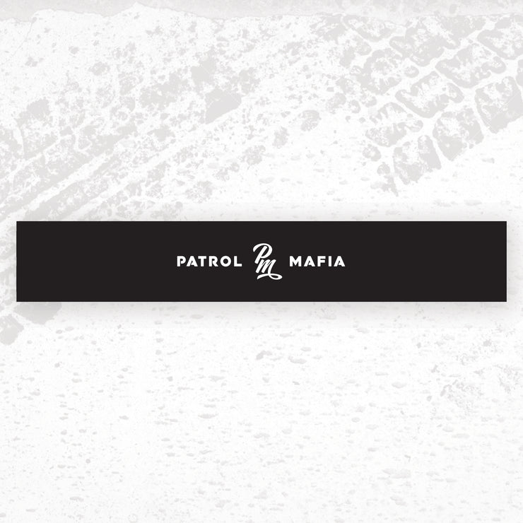 Patrol Mafia Window Banner - Monogram