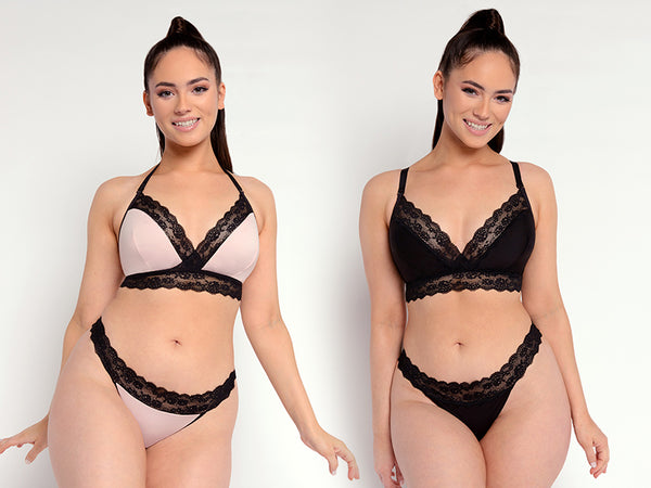 curvy kate twice the fun reversible D+ triangle bralette