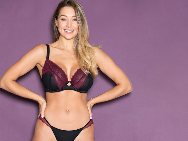 curvy kate in love with lace black wine