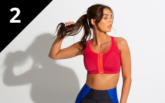 Pour Moi Energy Elevate Zip Front Sports Bra Red/Cherry