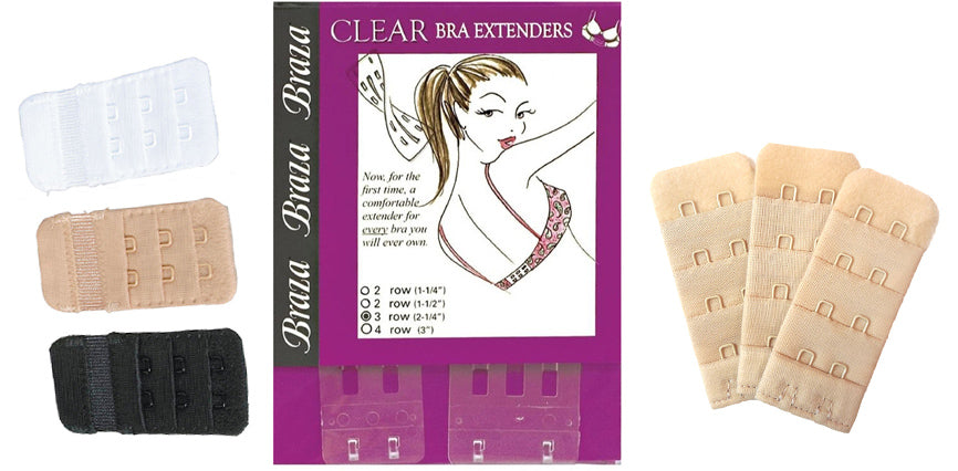Make your bra band bigger with bra extender hook and eyes