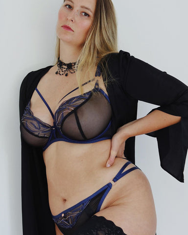 laceandhaze elly wears scantilly submission strappy lingerie