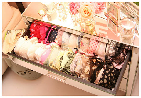 lingerie drawer organisation sets colours grouping
