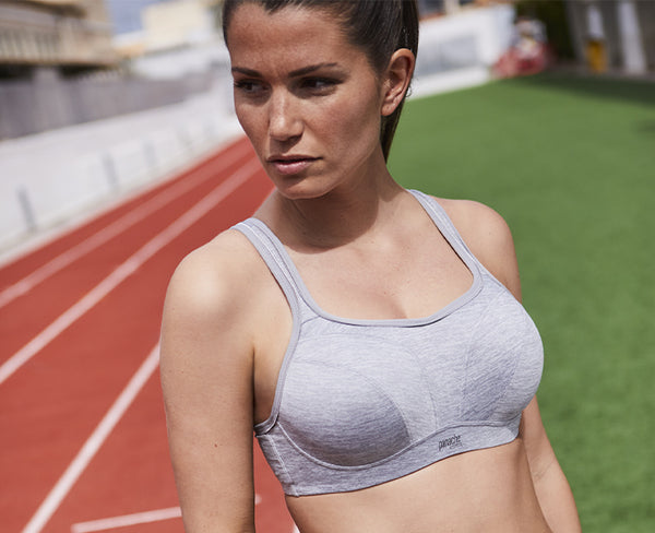 Panache Grey Marl D+ Full Bust Sports bra
