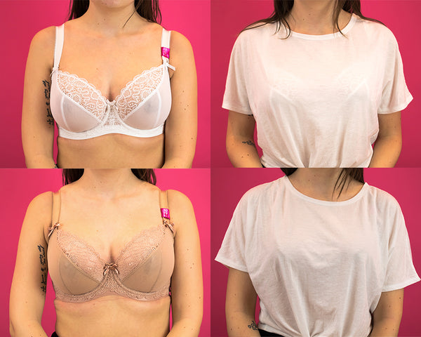 White Bra vs Nude Bra White T-Shirt Test