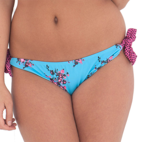 Curvy Kate Beach Bloom Ruffle Tie Side Brief Topaz Floral