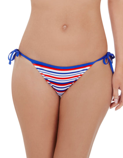 Lepel Sailor Tie Side Bikini Pant Blue/Red/White Print