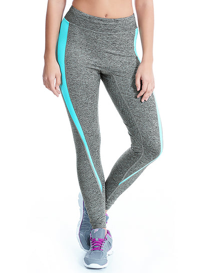 Freya Active Reflective Twist Legging Carbon Grey/Aqua