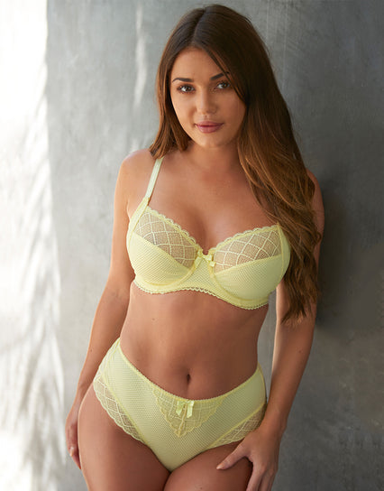 Pour Moi Electra Side Support Bra Yellow