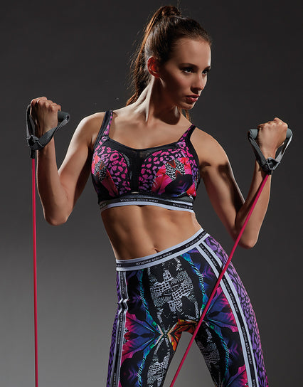 Kris Line Sunset Sports bra Black/Rose Multi