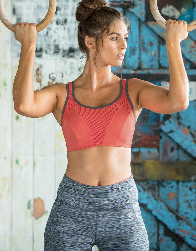 Pour Moi Energy Fearless Non Wired Full Cup Sports Bra Coral