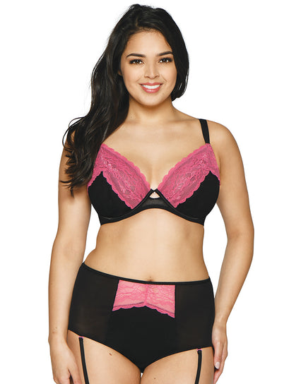 Curvy Kate In Love With Lace Plunge Bra Black/Pink