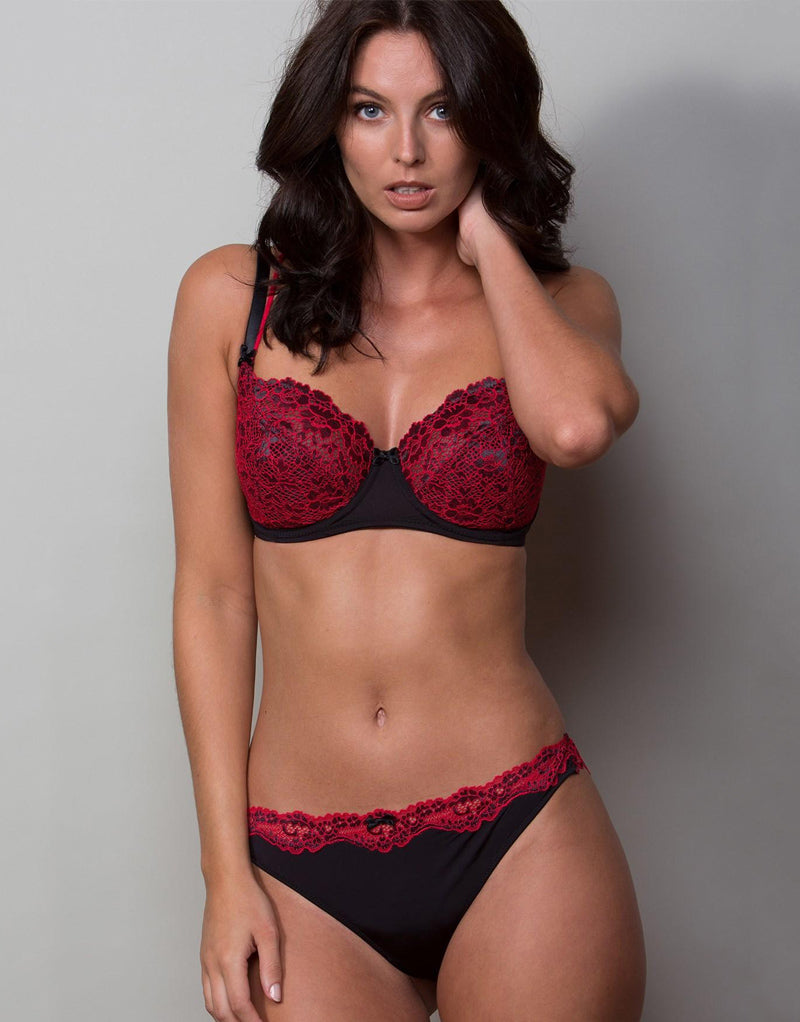 Pour Moi Fever Full Cup Bra Black/Red