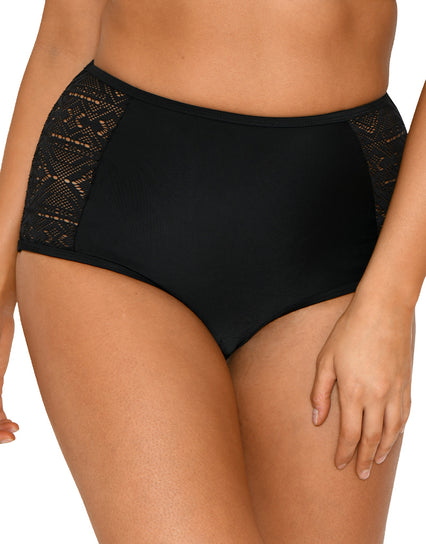 Curvy Kate Rush High Waist Bikini Brief Black