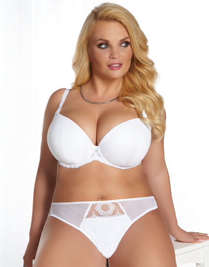 Kris Line Fortuna Moulded Plunge Bra White