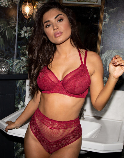 Contradiction by Pour Moi Suspense Double Strap Balconette Bra Red