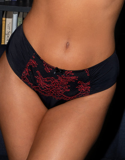 Pour Moi Tattoo High Waist Brief Black/Red