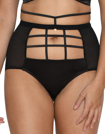 Scantilly by Curvy Kate Censored High Waist Brief Black