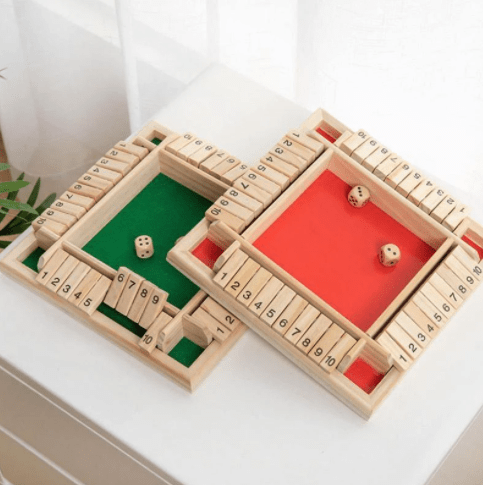 Funset™ Shut the Box Wooden Board Game