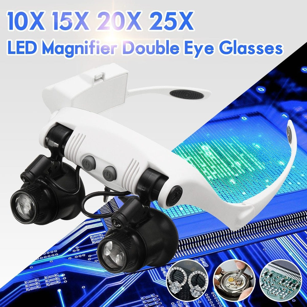 Magnify™ LED Magnifier Double Eyeglasses - See bigger and clearer!