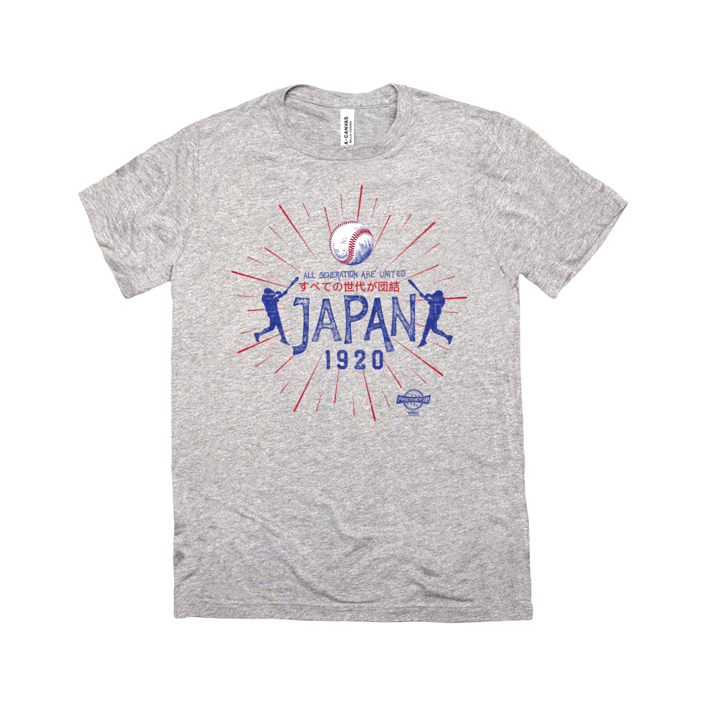 WBSC-Premier12-Baseball-Japan-Womens-T-Shirt-Grey