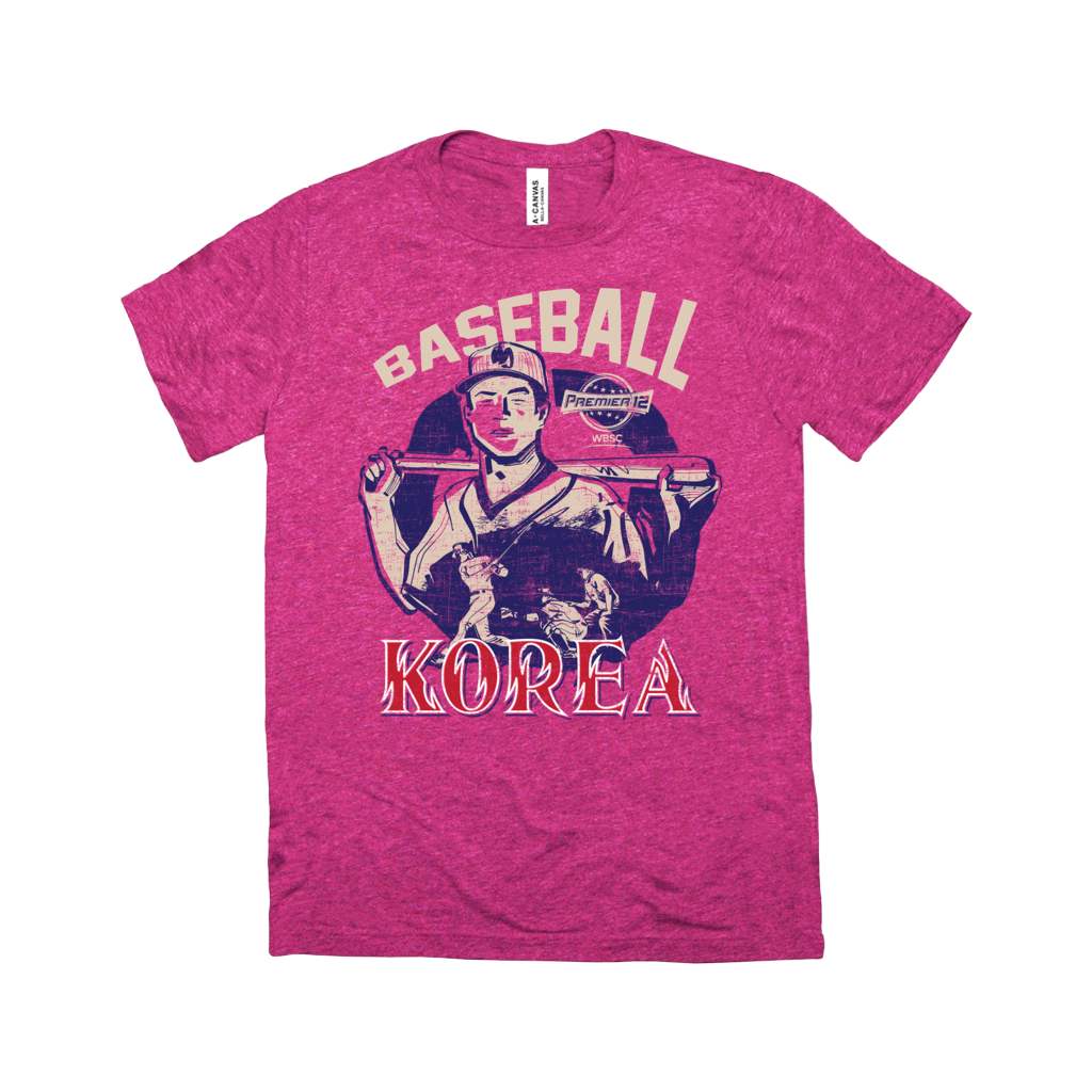 WBSC-Premier12-Baseball-Korea-Womens-T-Shirt-Berry