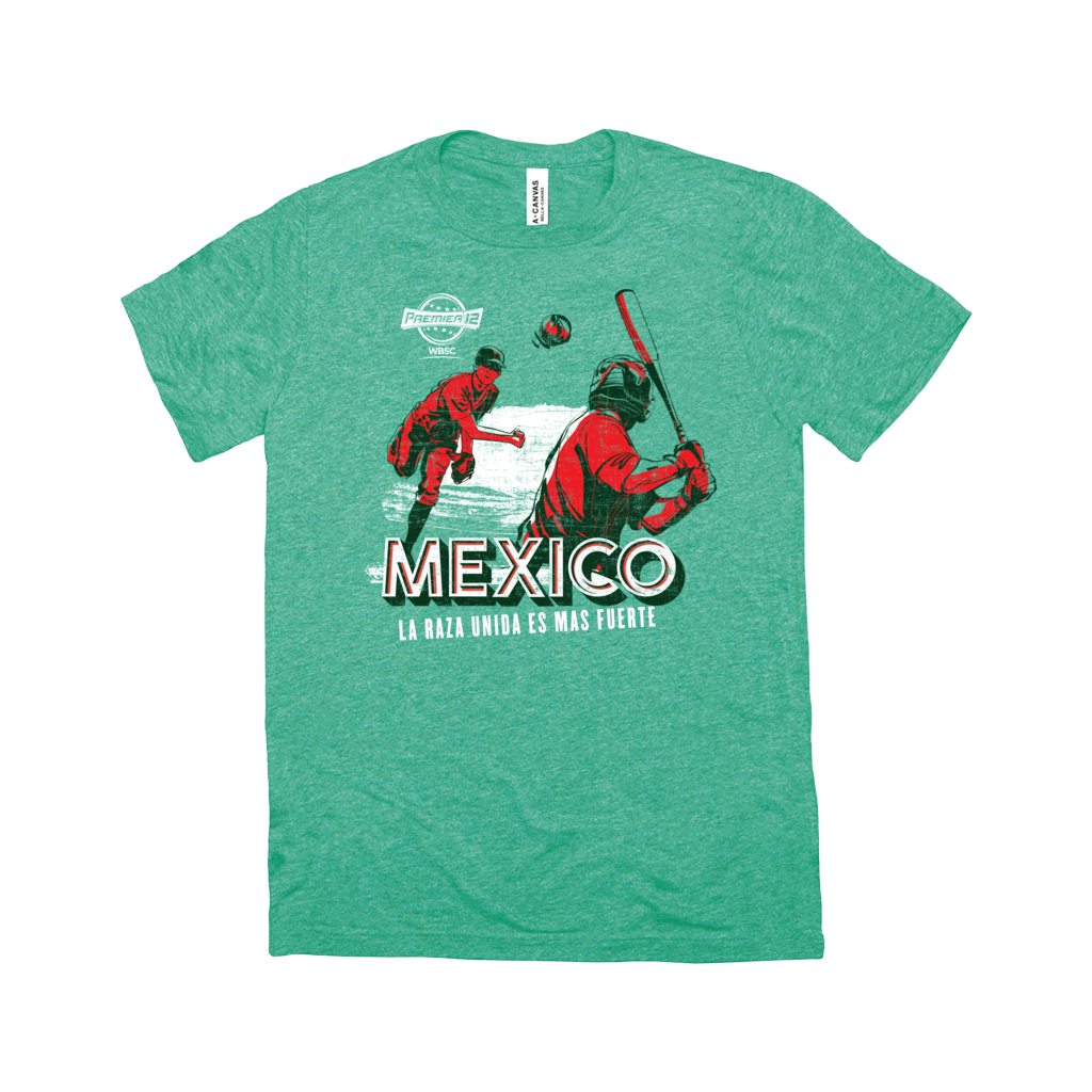 WBSC-Premier12-Baseball-Mexico-Womens-T-Shirt-Green