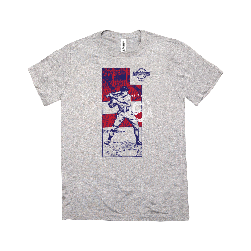 WBSC-Premier12-Baseball-USA-Womens-T-Shirt-Grey