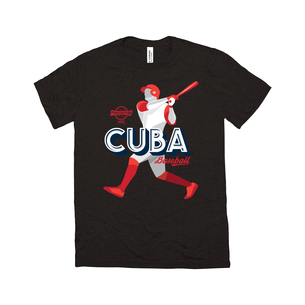 WBSC-Premier12-Baseball-Cuba-Womens-T-Shirt-Black