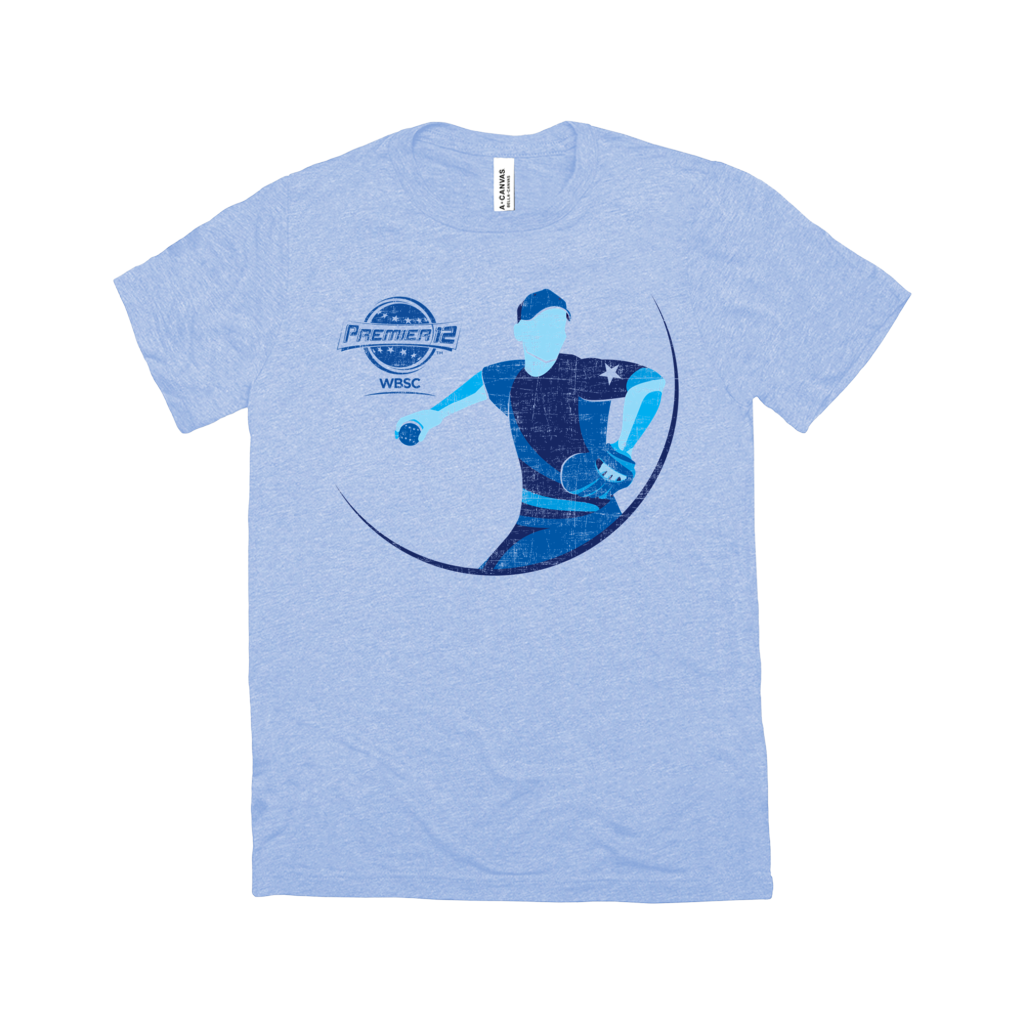 WBSC-Premier12-2019-Tournament-Womens-T-Shirt-Blue
