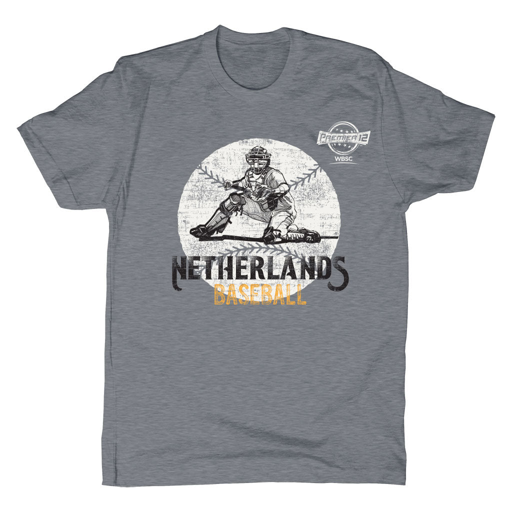 WBSC-Premier12-Baseball-Netherlands-Mens-T-Shirt-Grey
