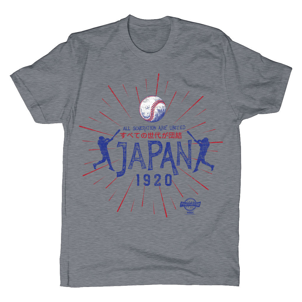 WBSC-Premier12-Baseball-Japan-Mens-T-Shirt-Grey
