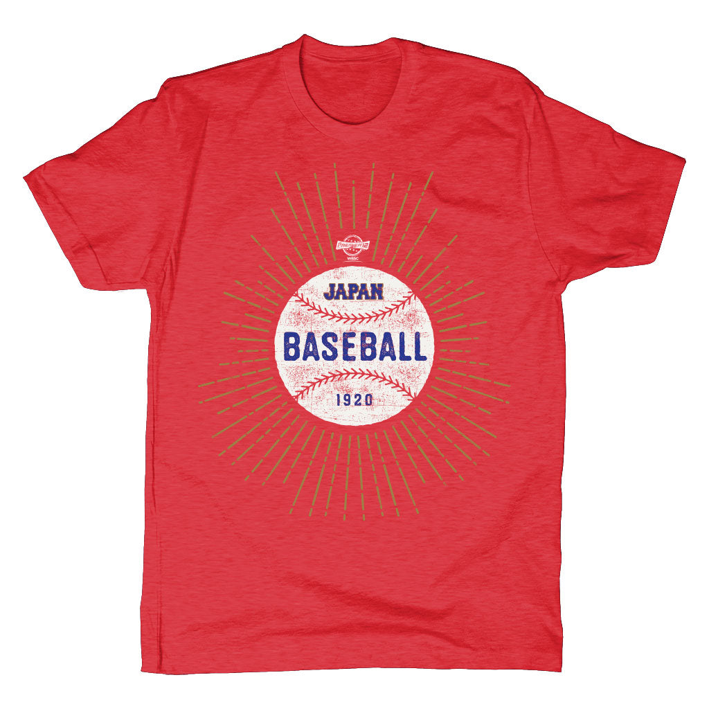 WBSC-Premier12-Baseball-Japan-Mens-T-Shirt-Red