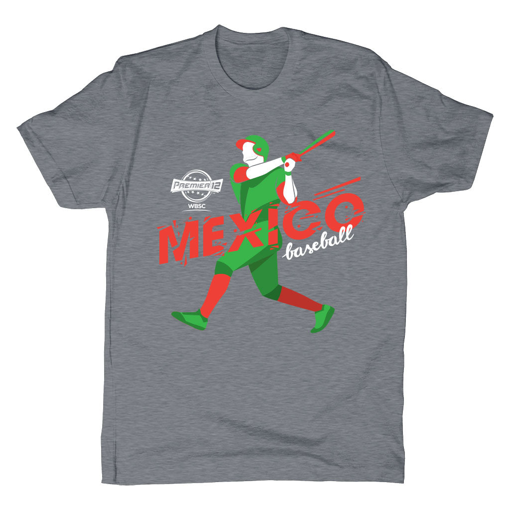 WBSC-Premier12-Baseball-Mexico-Mens-T-Shirt-Grey