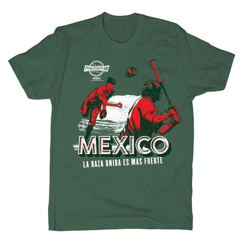 WBSC-Premier12-Baseball-Mexico-Mens-T-Shirt-Green