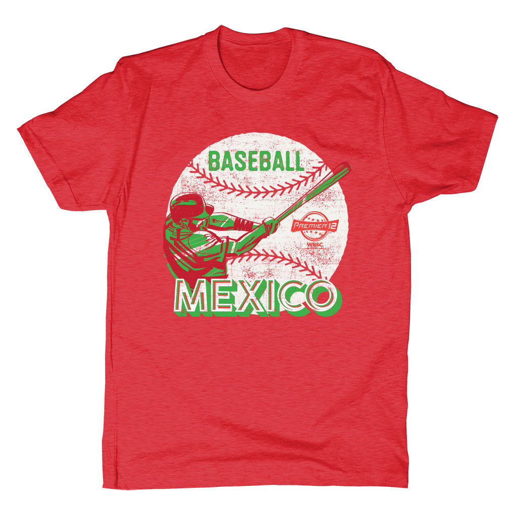 WBSC-Premier12-Baseball-Mexico-Mens-T-Shirt-Red
