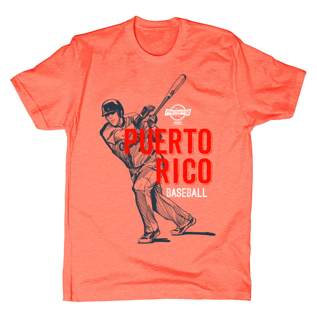 WBSC-Premier12-Baseball-Puerto-Rico-Mens-T-Shirt-Orange