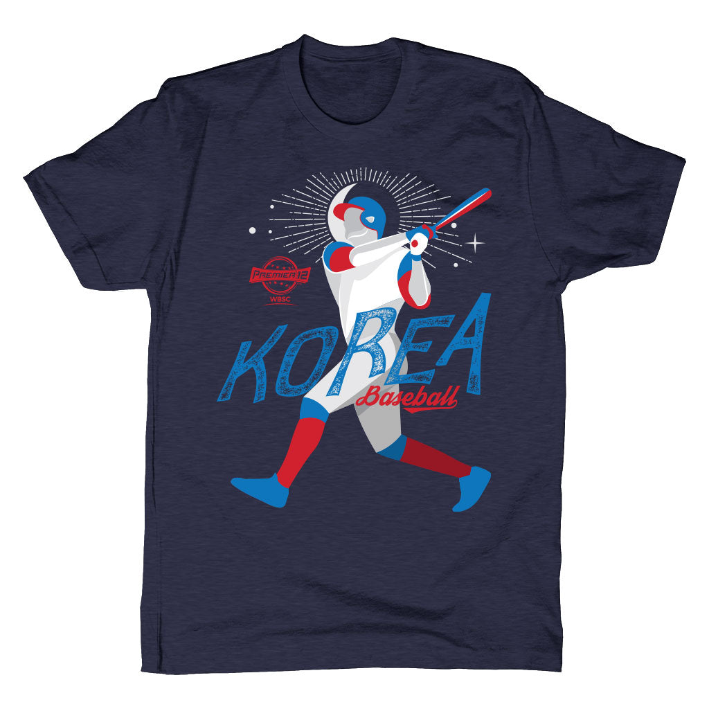 WBSC-Premier12-Baseball-Korea-Mens-T-Shirt-Blue