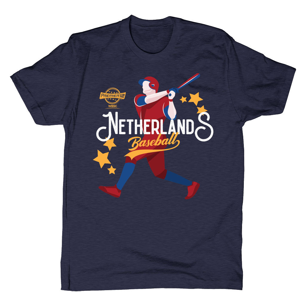 WBSC-Premier12-Baseball-Netherlands-Mens-T-Shirt-Blue