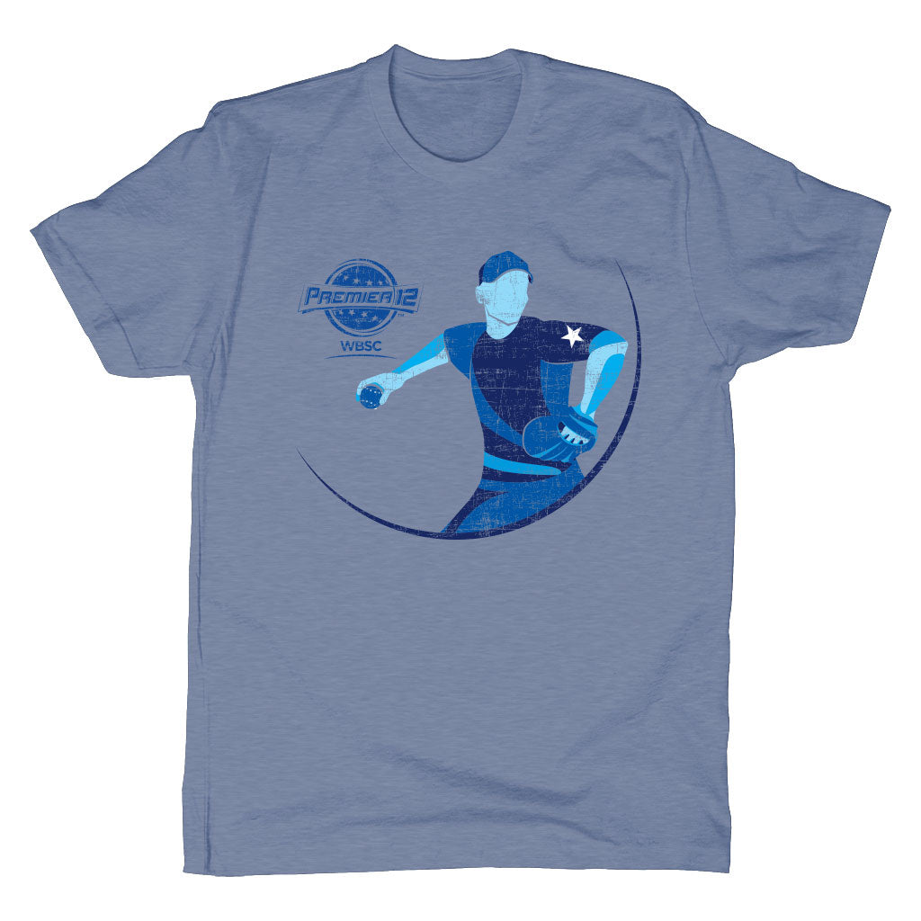 WBSC-Premier12-2019-Tournament-Mens-T-Shirt-Blue