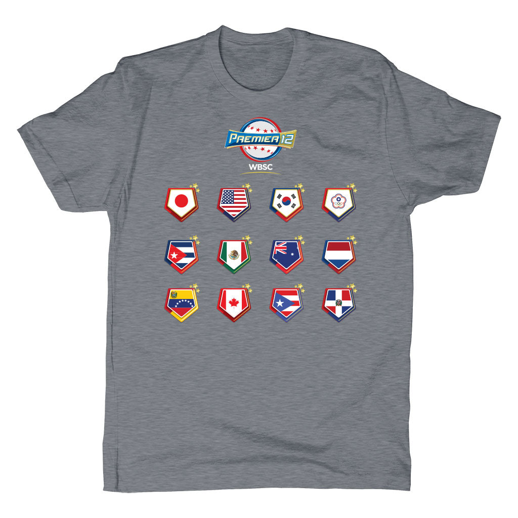 WBSC-Premier12-2019-Tournament-Mens-T-Shirt-Grey