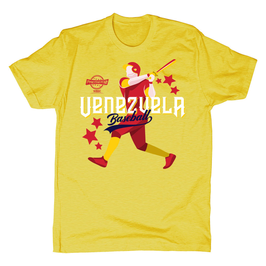 WBSC-Premier12-Baseball-Venezuela-Mens-T-Shirt-Yellow