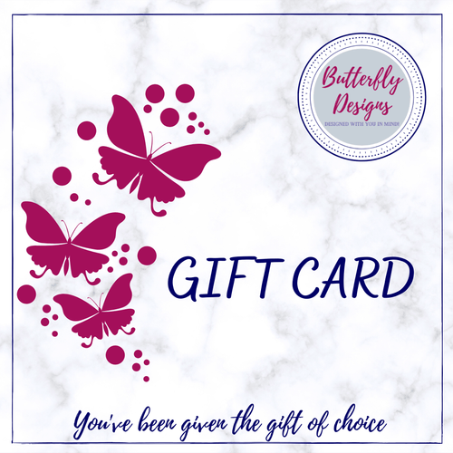 Gift Card Butterfly Designs SC