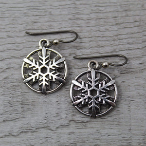 Pewter Antique Snowflakes Butterfly Designs SC